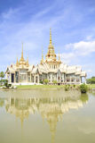 Thai temple in Korat in Thailand. Thai temple in Korat with blue sky stock photo