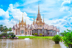Thai temple landmark in Nakhon Ratchasima, Thailand Royalty Free Stock Photography