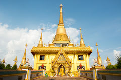 Thai temple. A temple (from the Latin word templum) is a structure reserved for religious or spiritual activities such as prayer and sacrifice. A templum stock photo