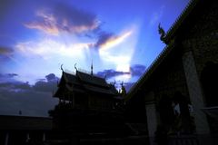 Thai temple. Look beyond meditation dawn temple culture Stock Image