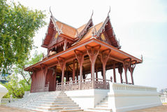 Thai temple. The modern world ri stock photos