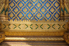 Thai temple mosaic pattern tiles decoration. Thai temple mosaic pattern tiles decroation use for background Royalty Free Stock Photography