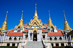Thai Temple on the mountain Stock Photo