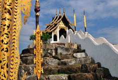 Thai temple on the mountain Stock Photo