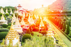 Thai temple with mountain Royalty Free Stock Photos