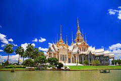 Thai temple named Wat Sorapong in Korat Royalty Free Stock Images