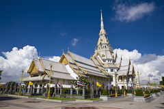 Thai temple and nice blue sky Stock Photo
