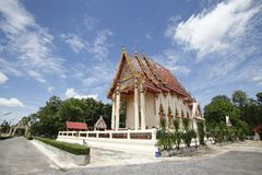 Thai temple and nice blue sky  in Thailand. Stock Photo