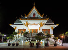 Thai temple at night Royalty Free Stock Images