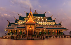 Thai Temple ,the northeast of Thailand:Wat Pa Phu  Royalty Free Stock Photos