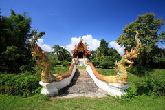 Thai temple in Northern style at wat Pa Dad Stock Image