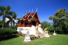 Thai temple in Northern style at wat Pa Dad Royalty Free Stock Photo