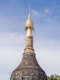 Thai temple pagoda with blue sky background. Wat pa pao royalty free stock images