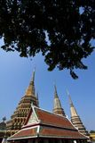 Thai temple pagoda and roof top decoration Stock Photos