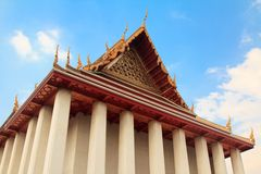Thai temple pagoda and roof top decoration Stock Photography