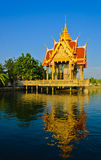 Thai temple pavilion Stock Photos