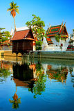 Thai temple pavilion with reflection Royalty Free Stock Photography