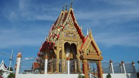 Thai temple in peaceful surrounding stock video footage