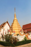 Thai temple in  phrae. Thai temple - Wat in Northern Thailand, phrae Royalty Free Stock Photos