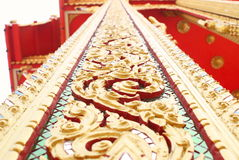 Thai temple. Pole. beautiful pattern. This pole is man craft use many skills and time royalty free stock photos