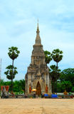 Thai Temple in Roi Et province. With clear blue day Stock Photography