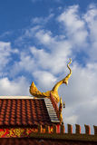 Thai temple roof. Stock Photo