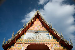 Thai temple roof. The roof roof of a temple against the sky in Thailand Royalty Free Stock Photos