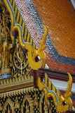 Thai Temple roof. Detail of temple roof in Thailand royalty free stock photography