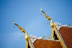 Thai temple roof Royalty Free Stock Photography