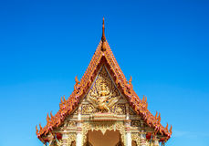 Thai Temple Roof and blue sky Stock Image