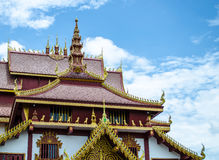Thai Temple Roof Stock Image