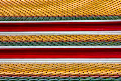 Thai temple roof_6. Colorful architecture roof of thai temple Stock Image