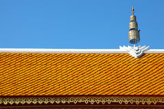 Thai Temple Roof with crown in Northern Style Royalty Free Stock Photography