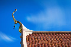 Thai temple roof detail Stock Photography