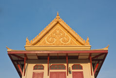 Thai temple roof gable with apex Stock Photography