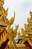 Thai temple roof Royalty Free Stock Images