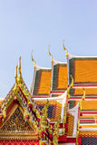Thai temple roof_1. Golden and colorful architecture roof of thai temple Stock Photos
