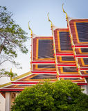 Thai temple roof_5. Golden and colorful architecture roof of thai temple Stock Photo