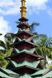 The Thai temple roof Royalty Free Stock Photos
