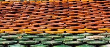 Thai temple roof texture Stock Photos