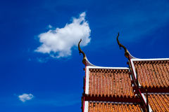 Thai temple roof Stock Photos