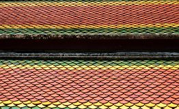 Thai temple roof. Temple roof tile in thai style Stock Images
