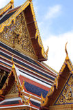 Thai temple roof top Royalty Free Stock Images