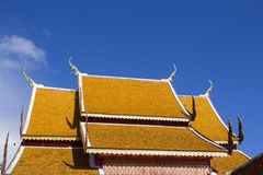 Thai temple roof Royalty Free Stock Photo