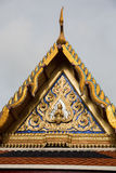 Thai temple roof in Wat Phra Kaew, Bangkok, Thailand. This picture is part of Thai temple roof in Wat Phra Kaew Royalty Free Stock Images