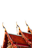 Thai temple roof. On white background Stock Image