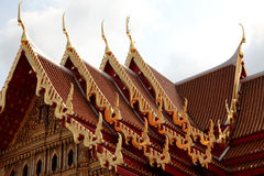 Thai temple roofs Royalty Free Stock Image