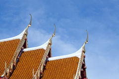 Thai Temple Roofs Stock Photo