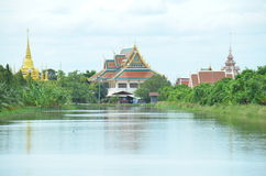 Thai temple at Samut Prakan Royalty Free Stock Photography