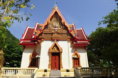 Thai Temple  at Sangklaburi Royalty Free Stock Image